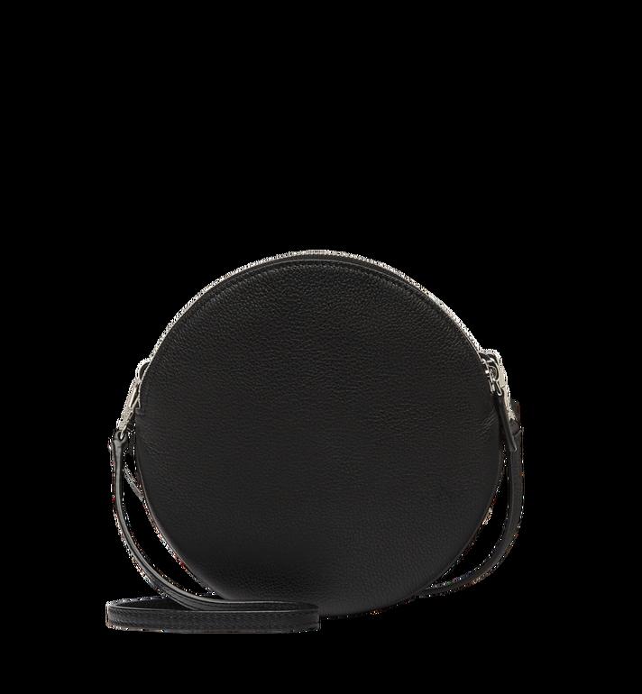 MCM Double Tambourine Crossbody in Grained Leather MYZ8APA76BK001 AlternateView4