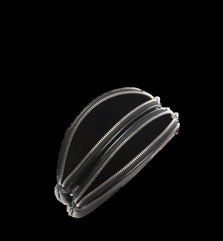 MCM Double Tambourine Crossbody in Grained Leather MYZ8APA76BK001 AlternateView5