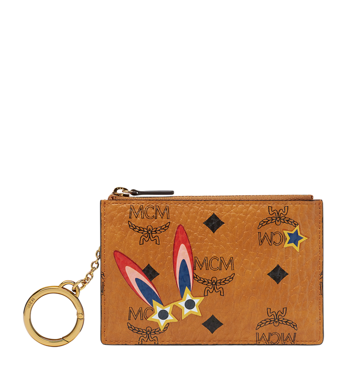 MCM Star Eyed Bunny Keycase in Visetos MYZ8SME06CO001 AlternateView