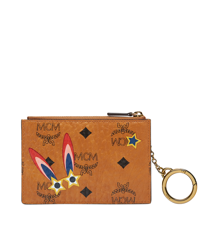 MCM Star Eyed Bunny Keycase in Visetos AlternateView3