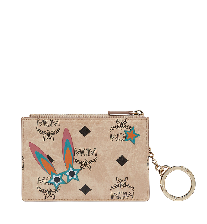 MCM Étui pour clés Star Eyed Bunny en Visetos MYZ8SME06IG001 AlternateView3