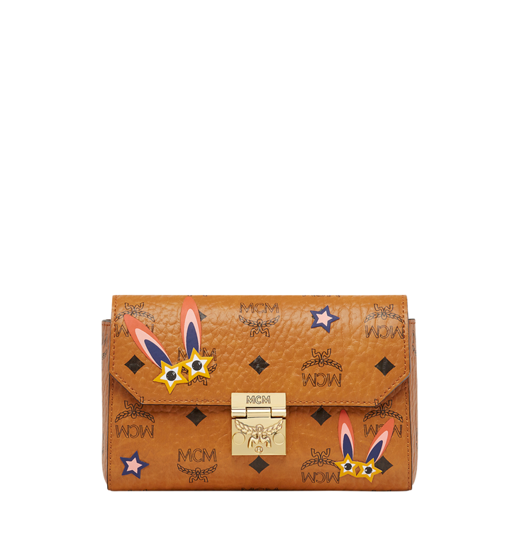 MCM Millie Star Eyed Bunny Flap Crossbody-Tasche in Visetos MYZ8SME74CO001 AlternateView