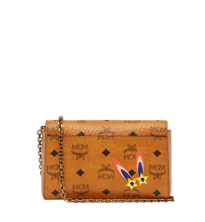 MCM Millie Star Eyed Bunny Flap Crossbody-Tasche in Visetos MYZ8SME74CO001 AlternateView4