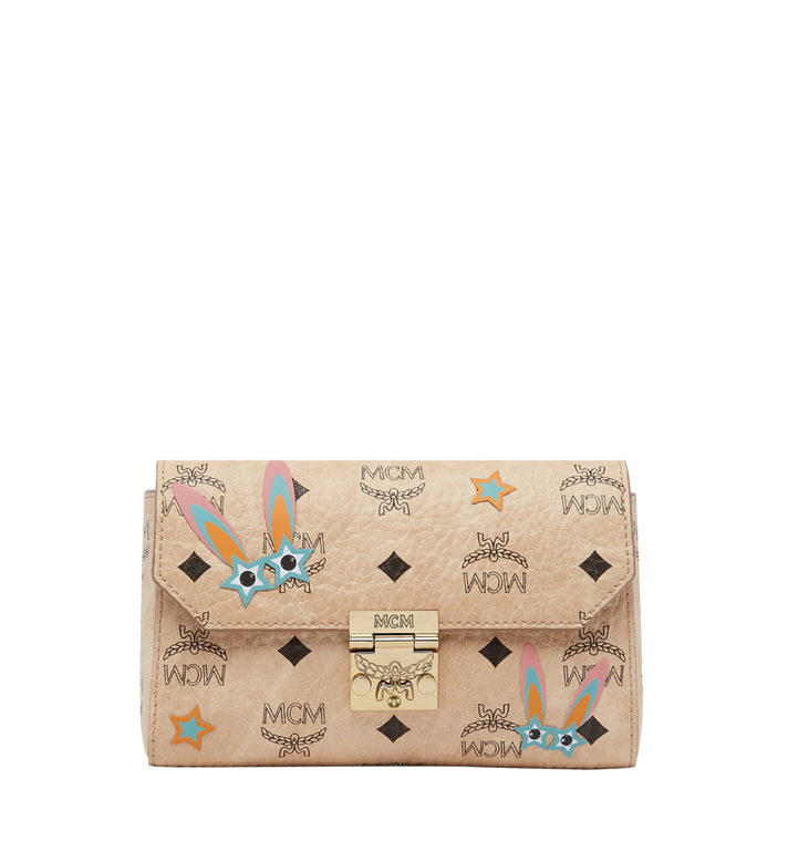 MCM Millie Star Eyed Bunny Flap Crossbody-Tasche in Visetos MYZ8SME74IG001 AlternateView
