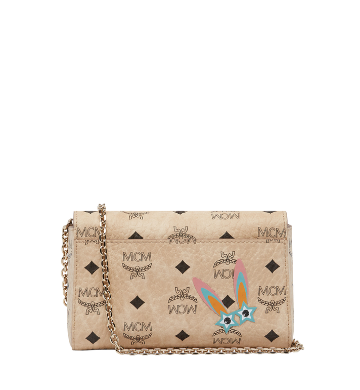 MCM Millie Star Eyed Bunny Flap Crossbody-Tasche in Visetos MYZ8SME74IG001 AlternateView4