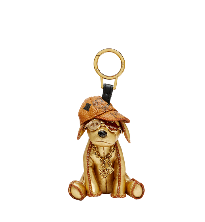 MCM Golden Dog Animal Charm MYZ8SXA61DG001 AlternateView1