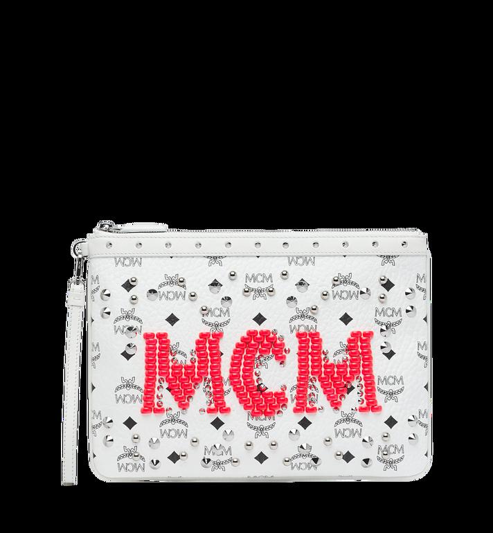 MCM Pochette à fermeture éclair en Visetos Neon Stud AlternateView