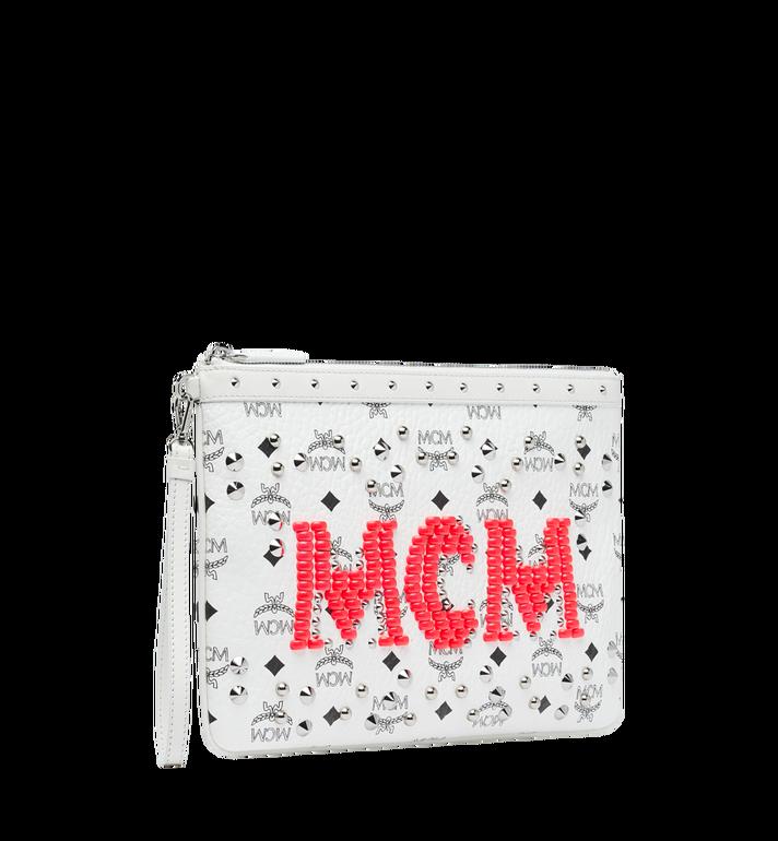 MCM Pochette à fermeture éclair en Visetos Neon Stud AlternateView2