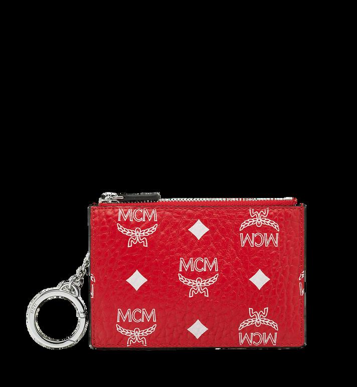 MCM Key Pouch in White Logo Visetos MYZ9SWA09AV001 AlternateView