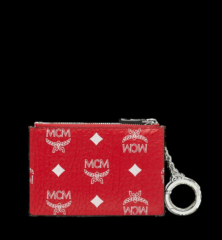 MCM Key Pouch in White Logo Visetos MYZ9SWA09AV001 AlternateView3