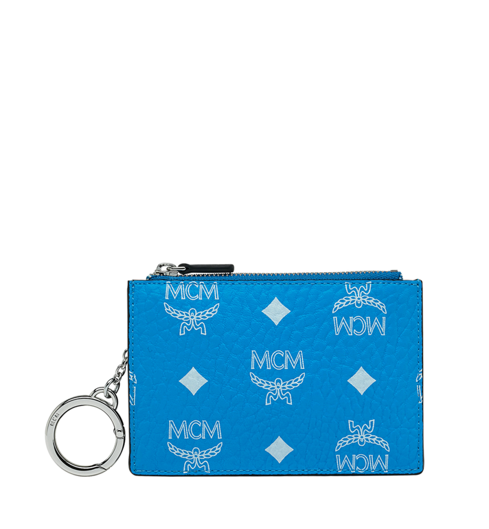 MCM Key Pouch in White Logo Visetos MYZ9SWA09HI001 AlternateView
