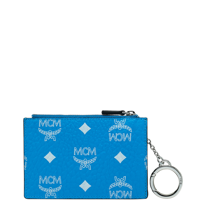 MCM Key Pouch in White Logo Visetos MYZ9SWA09HI001 AlternateView3
