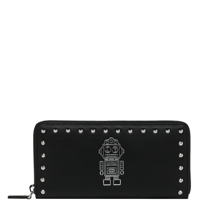 MCM Roboter Zip Around Wallet in Nappa Leather MZL9SRO33BK001 AlternateView