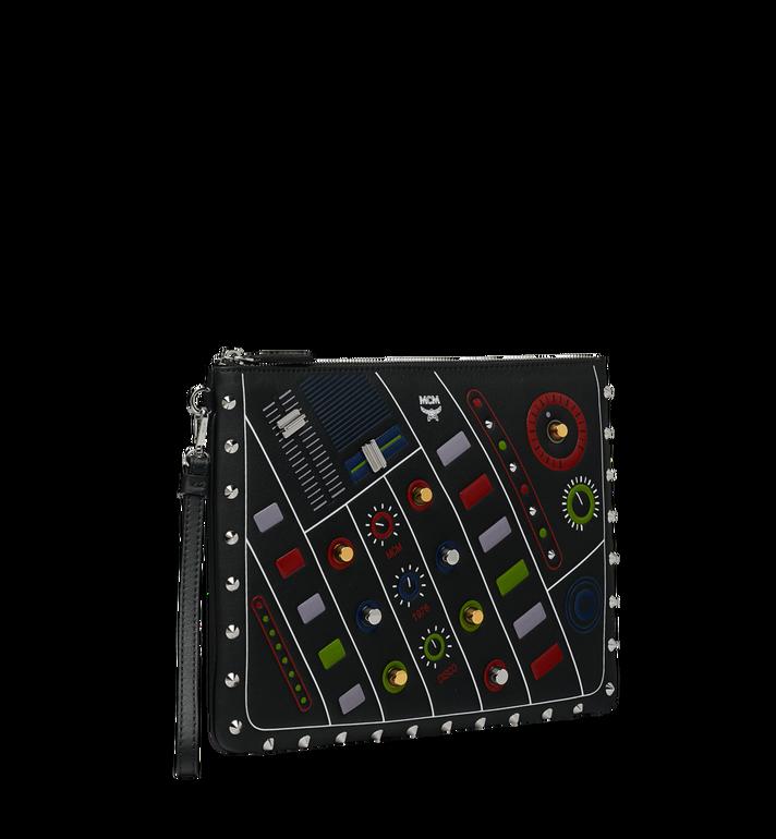 MCM Wristlet Zip Pouch in MCM Cassette MZZ8AMM26BK001 AlternateView2