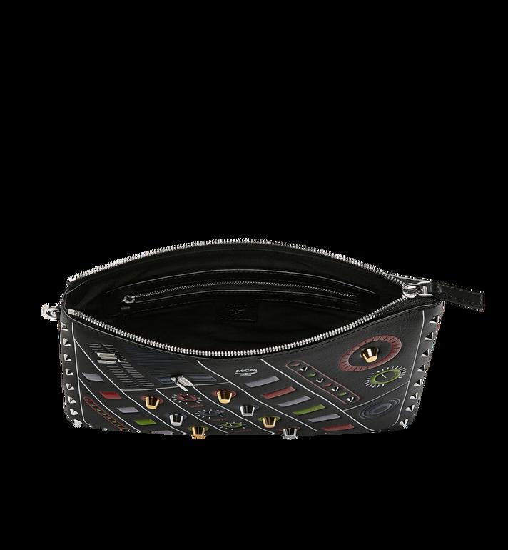 MCM Wristlet Zip Pouch in MCM Cassette MZZ8AMM26BK001 AlternateView4