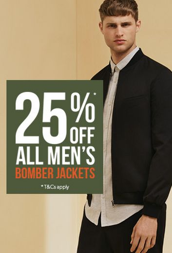 25% OFF ALL BOMBER JACKETS