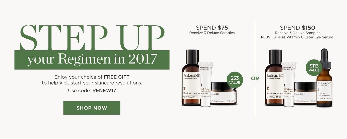 Receive a free 3-piece bonus gift with your $75 Perricone MD purchase