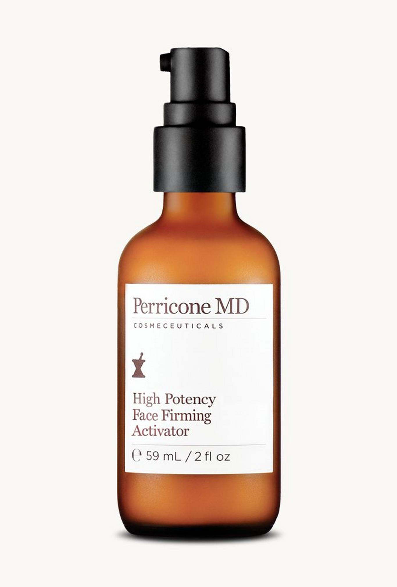 High Potency Face Firming Activator addresses the appearance of lines and wrinkles and leaves skin with a radiant glow.