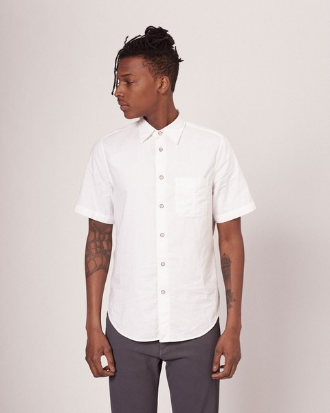 RAG & BONE STANDARD ISSUE SHORT SLEEVE BEACH SHIRT