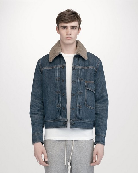 RAG & BONE BARTACK JACKET WITH SHERPA