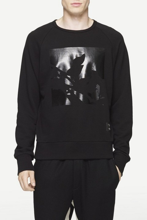 RAG & BONE LIBERTY PANEL PRINT SWEATSHIRT
