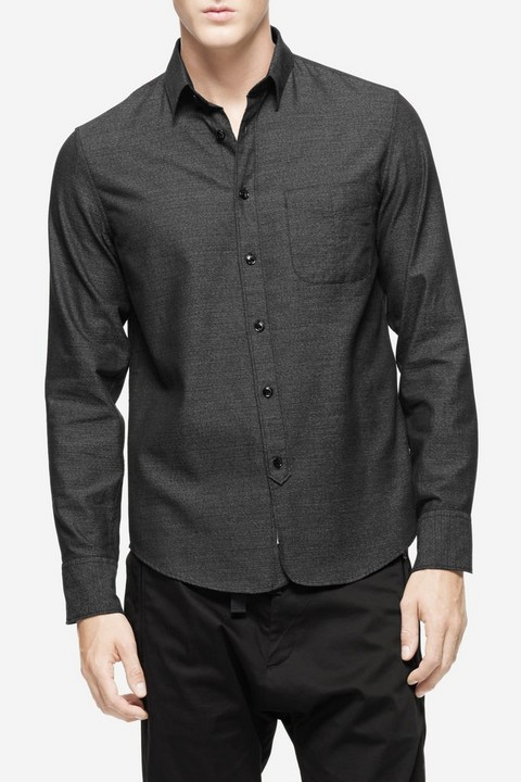 RAG & BONE THREE QUARTER PLACKET SHIRT