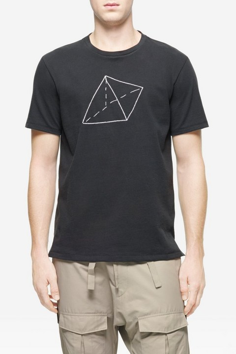 RAG & BONE TRIANGLE EMBROIDERY TEE