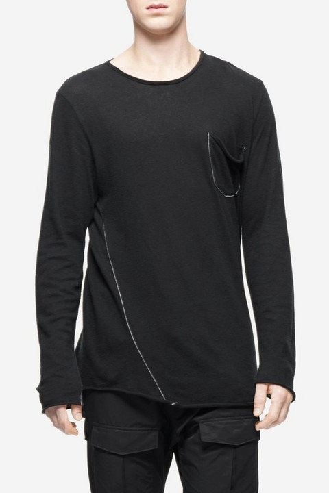 RAG & BONE HARTLEY LONG SLEEVE POCKET TEE