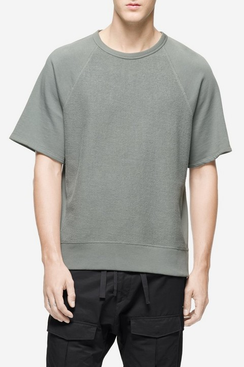 RAG & BONE SHORT SLEEVE DRISCOLL SWEATSHIRT