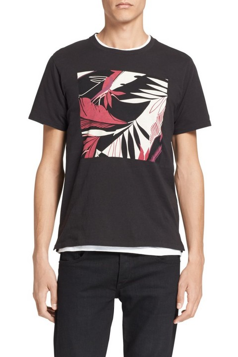 RAG & BONE HAWAIIAN GRAPHIC TEE