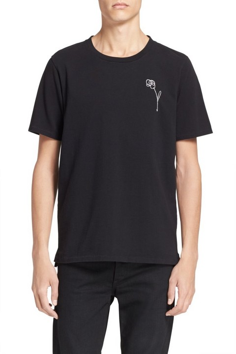 RAG & BONE FLOWER EMBROIDERY TEE