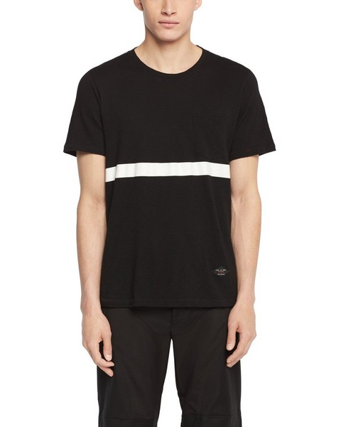 RAG & BONE CONTRAST STRIPE POCKET TEE