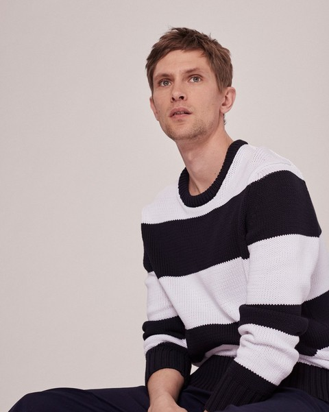 RAG & BONE AUSTIN STRIPED CREW