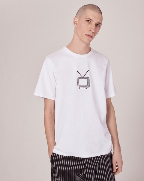 RAG & BONE TV EMBROIDERY T-SHIRT