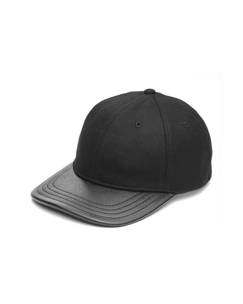 RAG & BONE BASEBALL CAP LEATHER TRIM