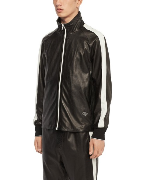 RAG & BONE LEATHER TRACT JACKET