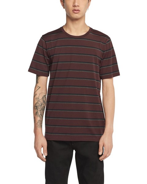 RAG & BONE TRI COLOR STRIPE TEE