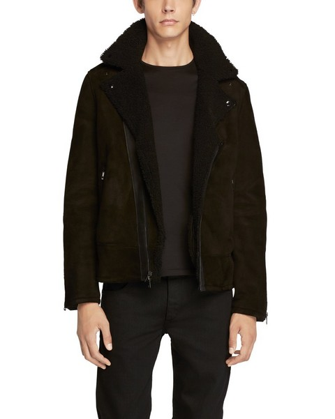 RAG & BONE SHEARLING MOTO JACKET
