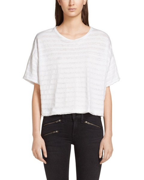RAG & BONE Shadow Stripe Boxy Tee