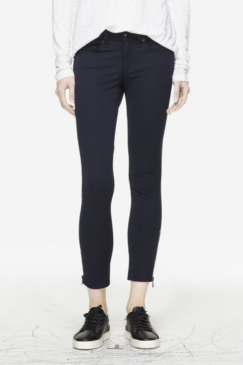 RAG & BONE EXPOSED ZIPPER CAPRI