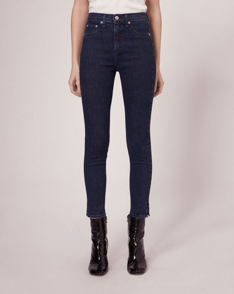 RAG & BONE 10 INCH CAPRI JEAN IN CLEAN DARK PAZ