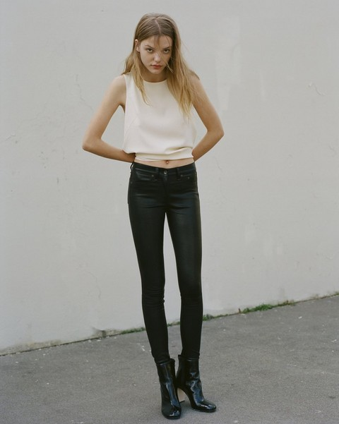 RAG & BONE LEATHER HIGH RISE SKINNY PANT