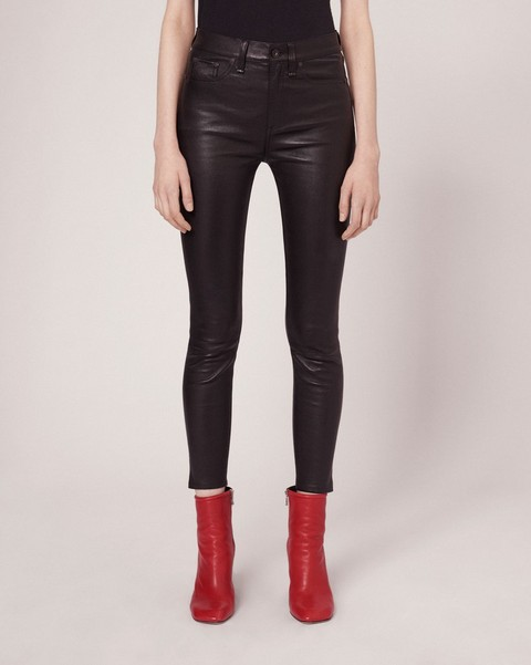 RAG & BONE 10 INCH LEATHER CAPRI WITH SLIT