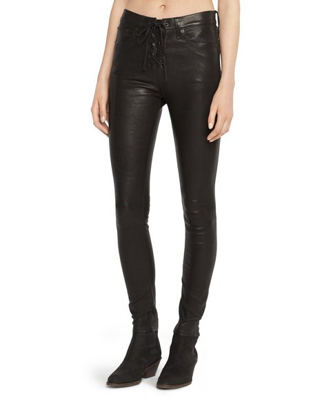 RAG & BONE HIGH RISE LACE UP LEATHER