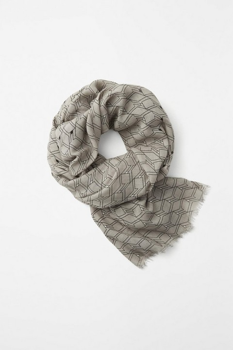 RAG & BONE DIAMOND PRINT SCARF