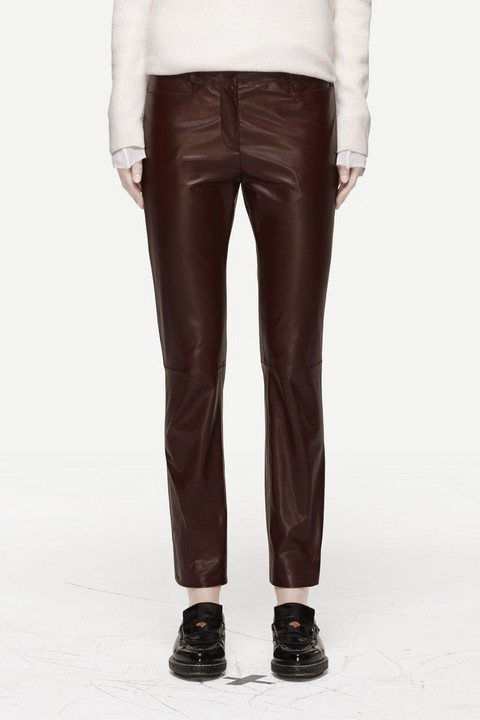 RAG & BONE LEATHER STRAIGHT LEG PANT