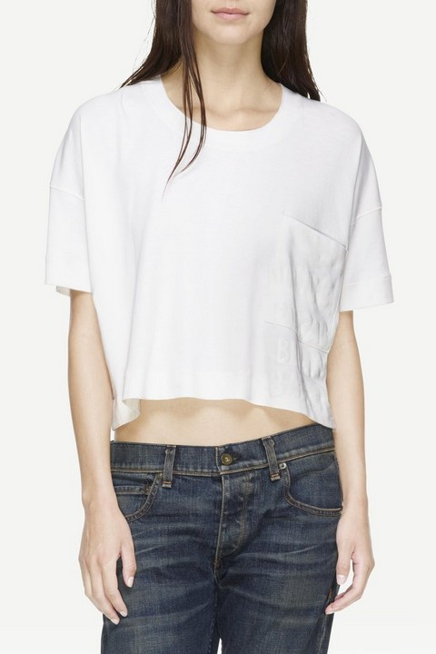 RAG & BONE CHARLEY GRAFFITI CROP TEE