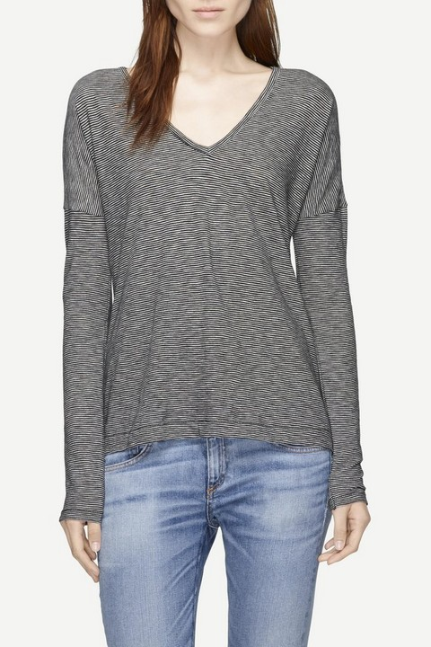 RAG & BONE THEO LONG-SLEEVE TEE