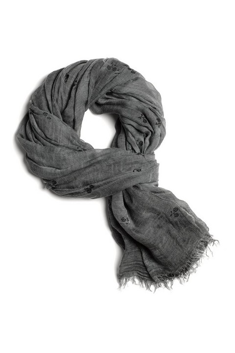 RAG & BONE FLOCKED FLORAL SCARF