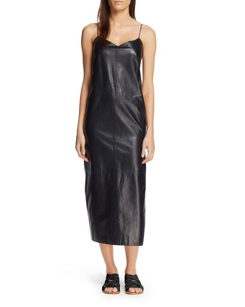 RAG & BONE LEATHER PATTI CAMISOLE DRESS